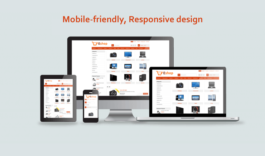 Mobile-friendly, Responsive design